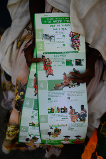 """Nutrition in Ethiopia: leaflet on nutrition and food safety<br><br><br><a target=""""_blank"""" rel=""""noopener noreferrer"""" href=""""https://www.afro.who.int/health-topics/nutrition"""">https://www.afro.who.int/health-topics/nutrition</a>"""